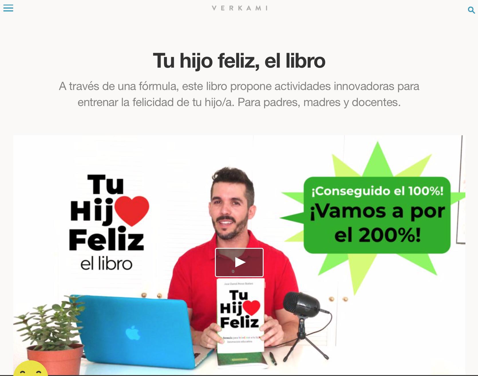 "Crowdfunding verkami ""Tu hijo feliz"", José David Pérez"